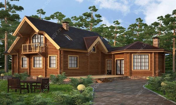План гостевого дома с баней