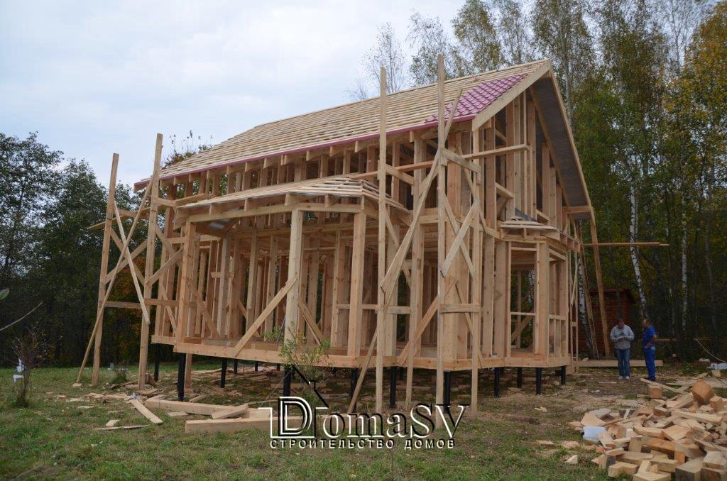 Этапы строительства каркасного дома своими руками фото