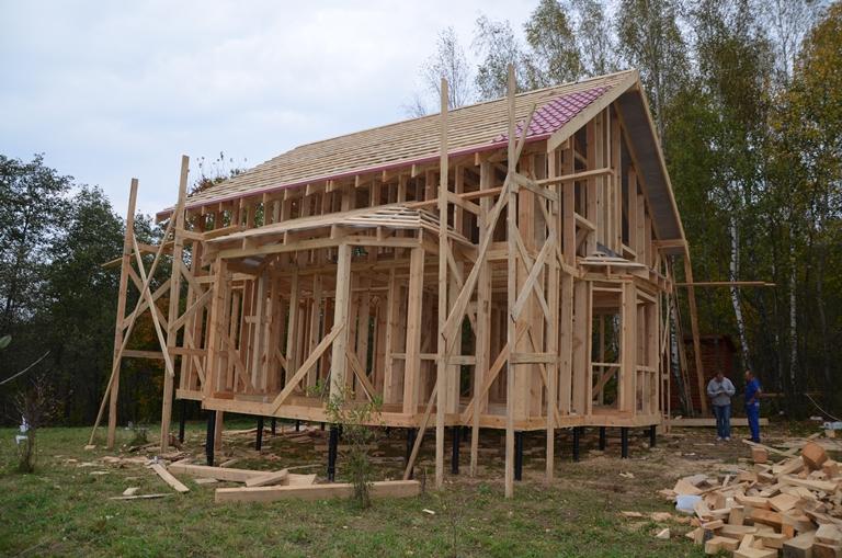 Строим каркасный дом своими руками поэтапный показ 635