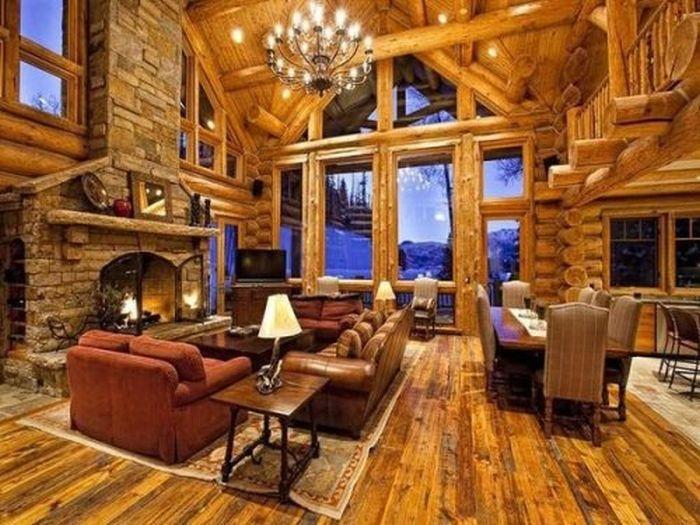 Деревянные дома из сруба интерьер 2